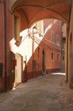 Vecchio vicolo a Panicale Fotografia Stock