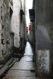 Vecchio vicolo in Xitang Fotografia Stock