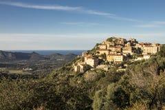 Vecchio villaggio in Corsica Immagine Stock Libera da Diritti