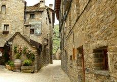 Vecchio villaggio de Torla, villaggio di Pirenei aragonesi Ordesa fotografia stock