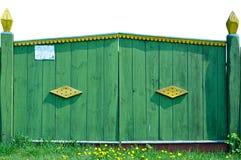 vecchio villaggio del cancello Fotografie Stock