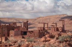 Vecchio villaggio del casbah nel Marocco immagini stock