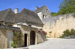 Vecchio villaggio del San-Amand-de-Coly Fotografia Stock Libera da Diritti