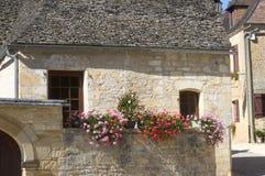 Vecchio villaggio del San-Amand-de-Coly Fotografie Stock Libere da Diritti