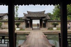 Vecchio villaggio di Chines Fotografia Stock