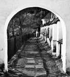 Vecchio villaggio di estrazione mineraria Fotografia Stock Libera da Diritti