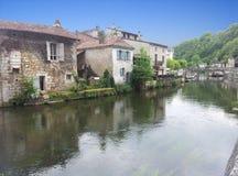Vecchio villaggio in Francia Fotografia Stock