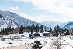 Vecchio villaggio giapponese Fotografia Stock Libera da Diritti
