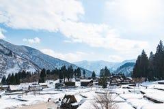 Vecchio villaggio giapponese Fotografia Stock