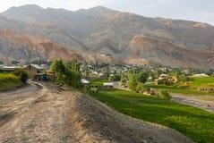 Vecchio villaggio in montagne Fotografia Stock Libera da Diritti