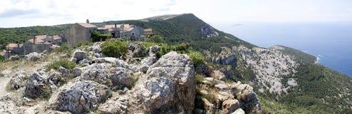 Vecchio villaggio nel Croatia Fotografia Stock Libera da Diritti