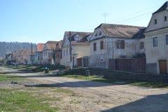 Vecchio villaggio nella Transilvania Fotografie Stock