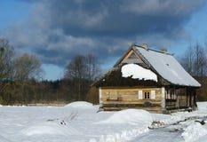 Vecchio villaggio polacco tradizionale Fotografia Stock Libera da Diritti