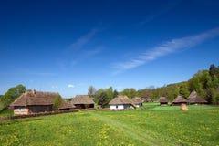 Vecchio villaggio polacco tradizionale Fotografie Stock Libere da Diritti