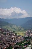 Vecchio villaggio in porcellana Fotografia Stock Libera da Diritti