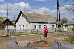 Vecchio villaggio russo Immagine Stock Libera da Diritti