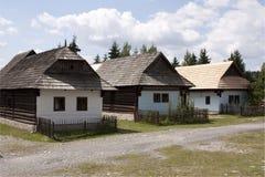 Vecchio villaggio slovacco Immagine Stock