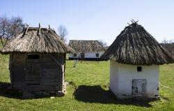 Vecchio villaggio in Ucraina occidentale Immagini Stock