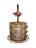 Vecchio vino che produce uva premere isolato Immagine Stock Libera da Diritti