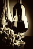 Vecchio vino. Retro ancora vita fotografie stock libere da diritti