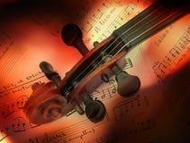 Vecchio violino Immagini Stock