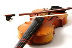 Vecchio violino Fotografia Stock