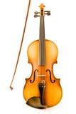 Vecchio violino con l'arco immagine stock libera da diritti