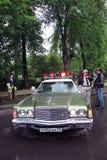Vecchio volante della polizia al retro Fest a Mosca Fotografia Stock Libera da Diritti