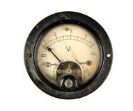 Vecchio voltmetro Immagini Stock Libere da Diritti