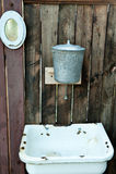 Vecchio washstand fotografie stock