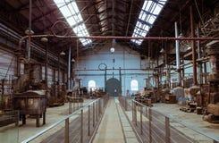 Vecchio workshop automobilistico immagine stock