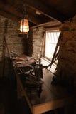 Vecchio workshop con gli strumenti Fotografia Stock