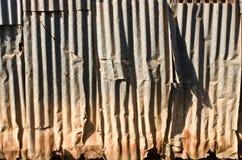 Vecchio zinco wall3 Fotografie Stock Libere da Diritti
