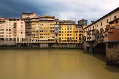 Vecchiobrug van Ponte in Florence Royalty-vrije Stock Afbeeldingen