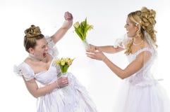 Vechtende bruiden Royalty-vrije Stock Foto