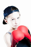 Vechtende jongen Stock Foto