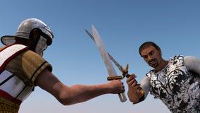 Vechtende ridders Royalty-vrije Stock Foto's