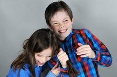 Vechtende siblings Royalty-vrije Stock Afbeelding