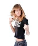 Vechtende vrouw Stock Afbeelding
