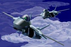 Vechter-achtervolg en aanval-illustratie vector illustratie
