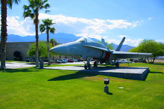Vechter bij het Museum van de Lucht stock afbeelding