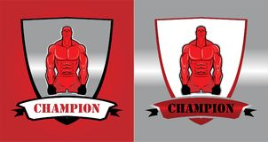 Vechter, Bodybuilder Mannelijk Spier Mens Sportman characte vector illustratie