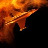 Vechter het straal vliegen tegen een blauwe hemel, 3d illustratie stock illustratie