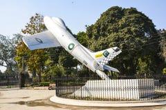 Vechter Jet Monument stock afbeeldingen