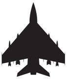 Vechter Jet Silhouette vector illustratie