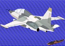 Vechter van zeeluchtvaart royalty-vrije illustratie