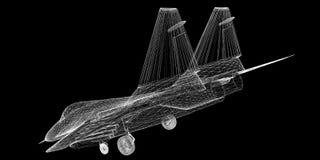 Vechtersvliegtuig Royalty-vrije Stock Afbeelding