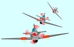 Vechtersvliegtuigen Stock Afbeeldingen