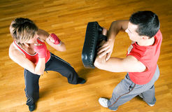 Vechtsporten Sparring Royalty-vrije Stock Afbeelding