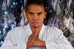 Vechtsportenvechter het bidden Royalty-vrije Stock Afbeelding